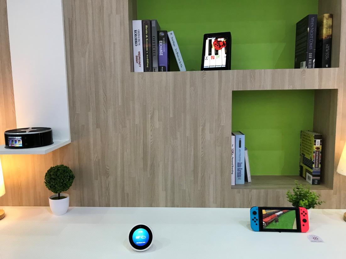 ▲群創光電於「Touch Taiwan 2018」展示智慧生活應用方案。